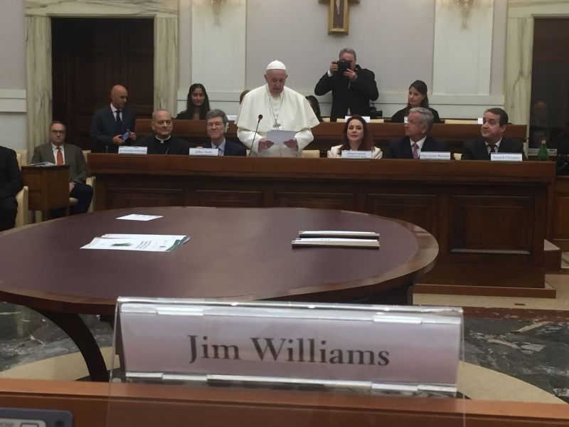 Pope in front of Jim W